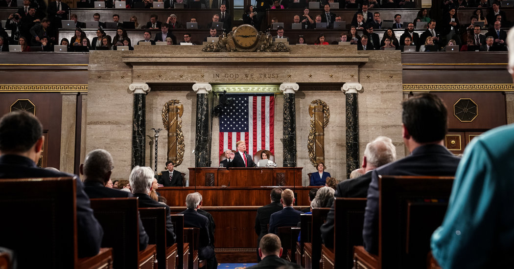 Trump Is Expected to Showcase U.S. Economy in State of the Union